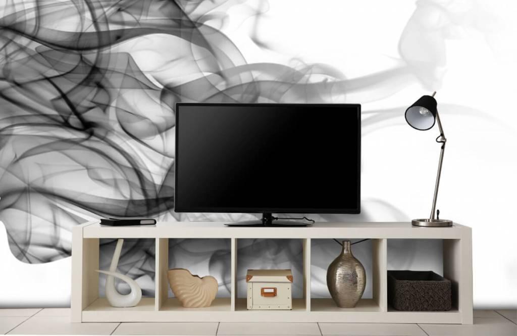 Modern behang - Hoofd gevormd uit rook - Kantoor 5