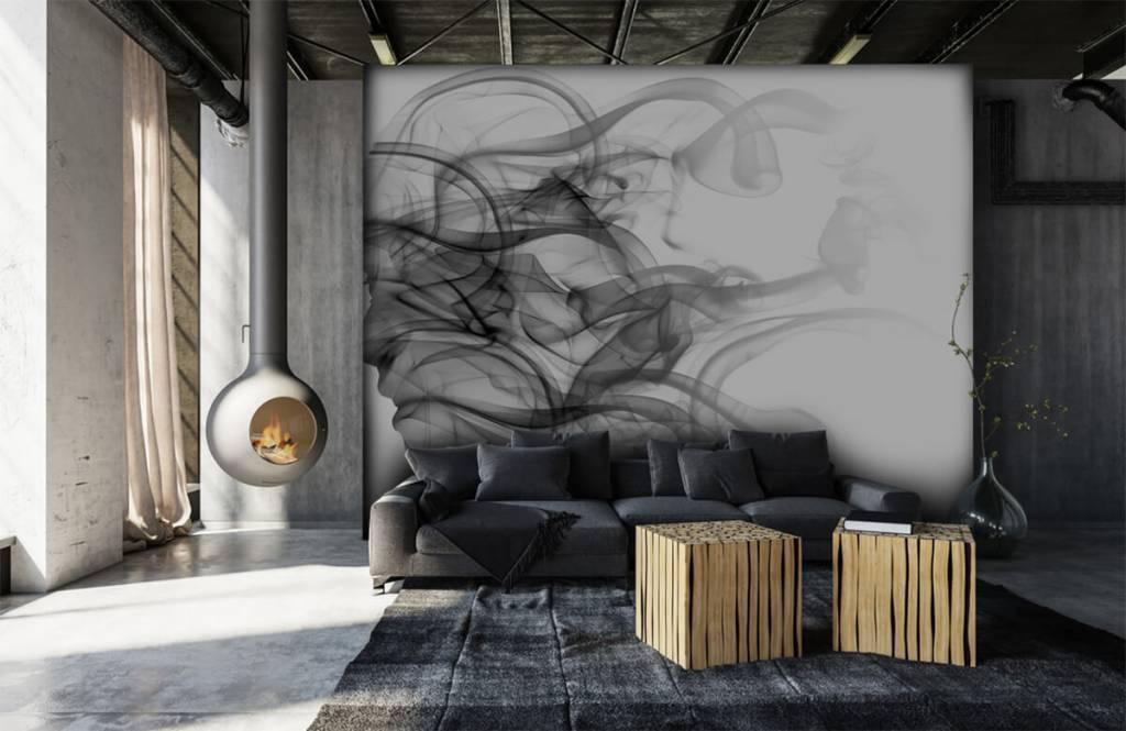 Modern behang - Hoofd gevormd uit rook - Kantoor 6
