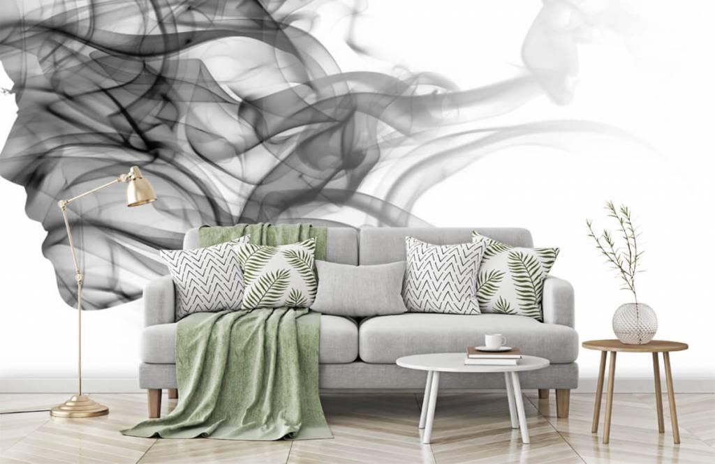Modern behang - Hoofd gevormd uit rook - Kantoor 7