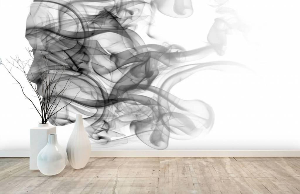 Modern behang - Hoofd gevormd uit rook - Kantoor 8