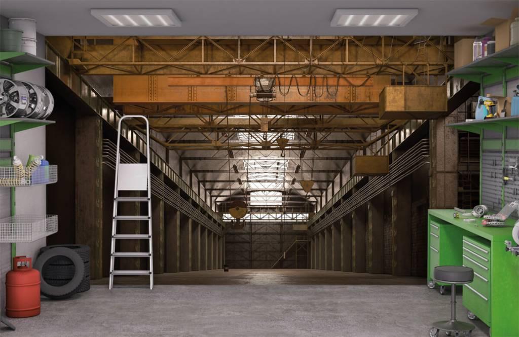 Gebouwen - Industriële verlaten hal - Magazijn 9