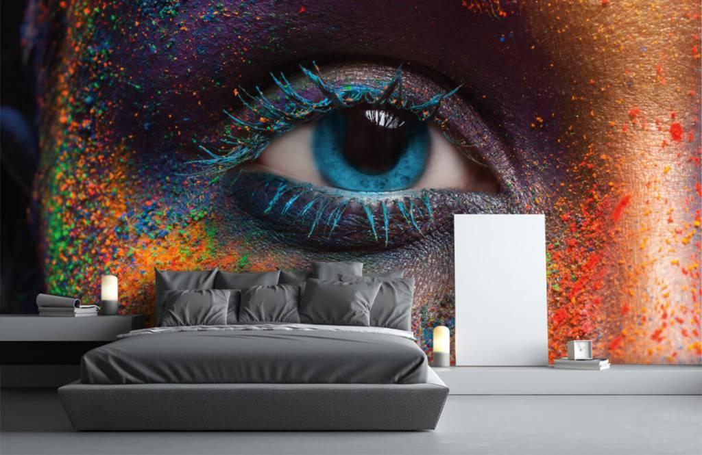Fotobehang Kleurrijk oog