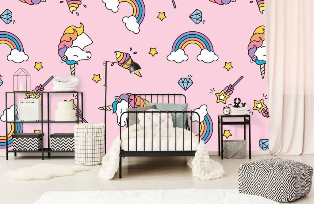 Paarden - Kleurrijke eenhoorn patroon - Kinderkamer 2