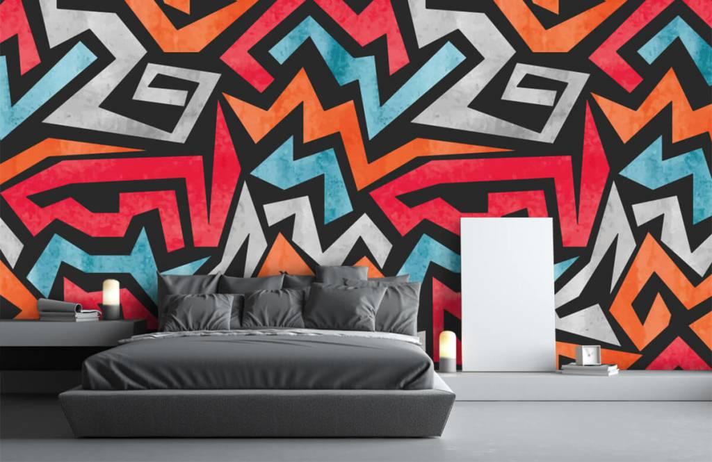Graffiti - Kleurrijke grafische print - Tienerkamer 3
