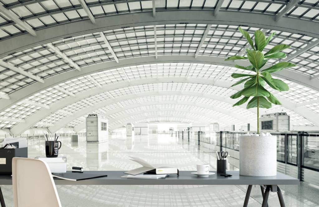 Gebouwen - Moderne hal met ronding - Hal 1