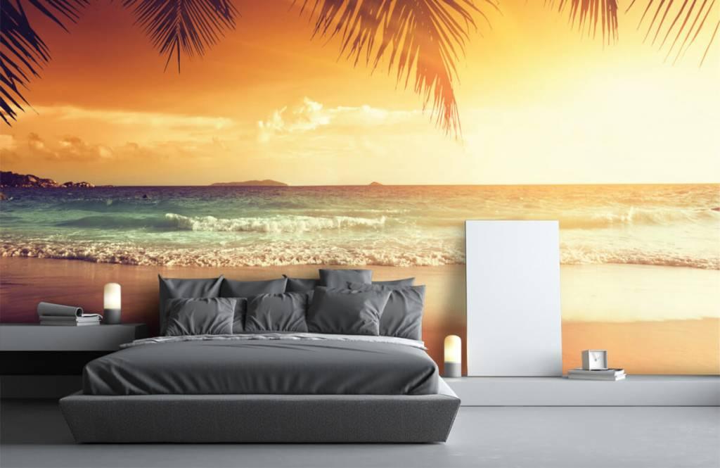 Stranden - Oranje zonsondergang - Slaapkamer 1