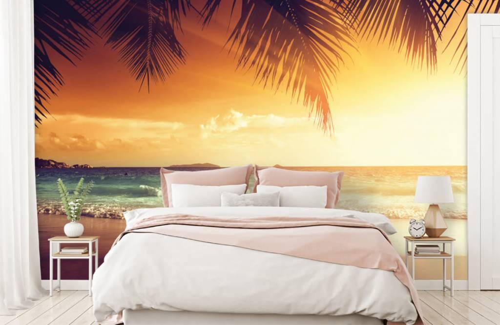 Stranden - Oranje zonsondergang - Slaapkamer 2