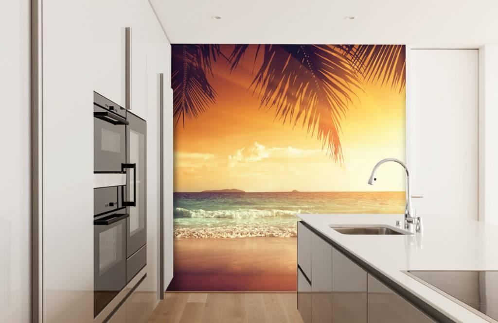 Stranden - Oranje zonsondergang - Slaapkamer 3