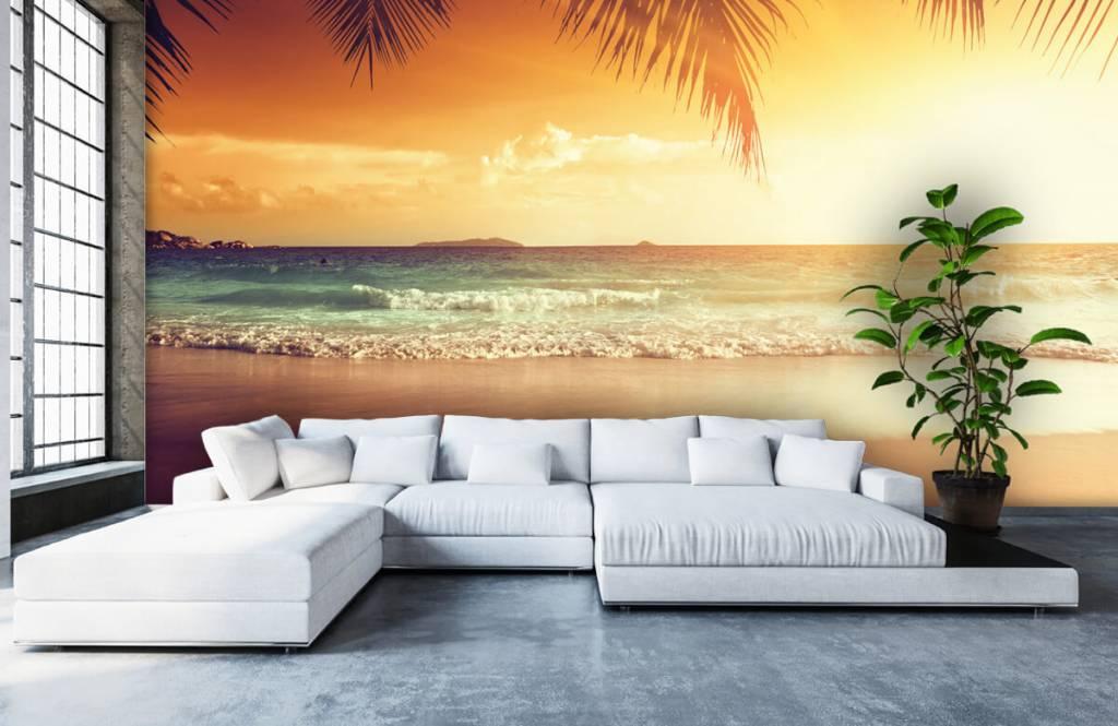 Stranden - Oranje zonsondergang - Slaapkamer 5