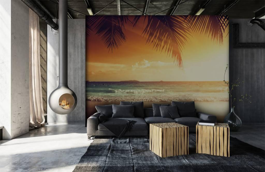 Stranden - Oranje zonsondergang - Slaapkamer 6
