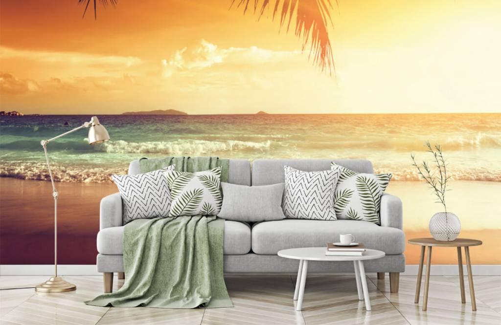 Stranden - Oranje zonsondergang - Slaapkamer 7