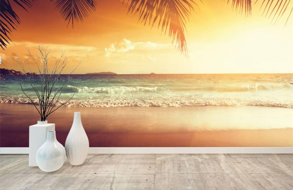 Stranden - Oranje zonsondergang - Slaapkamer 8