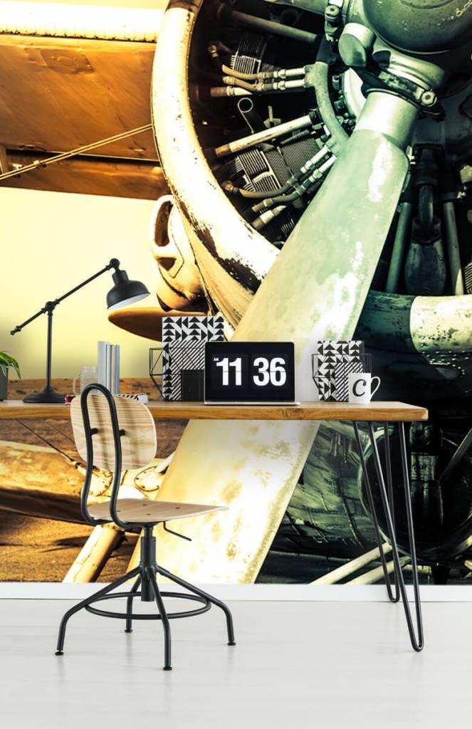 Retro behang - Oude vliegtuig - Slaapkamer 1