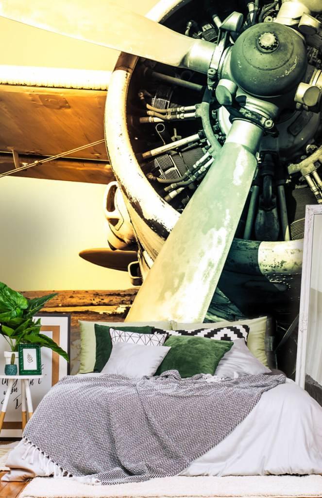 Retro behang - Oude vliegtuig - Slaapkamer 2