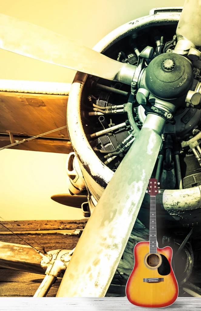 Retro behang - Oude vliegtuig - Slaapkamer 4