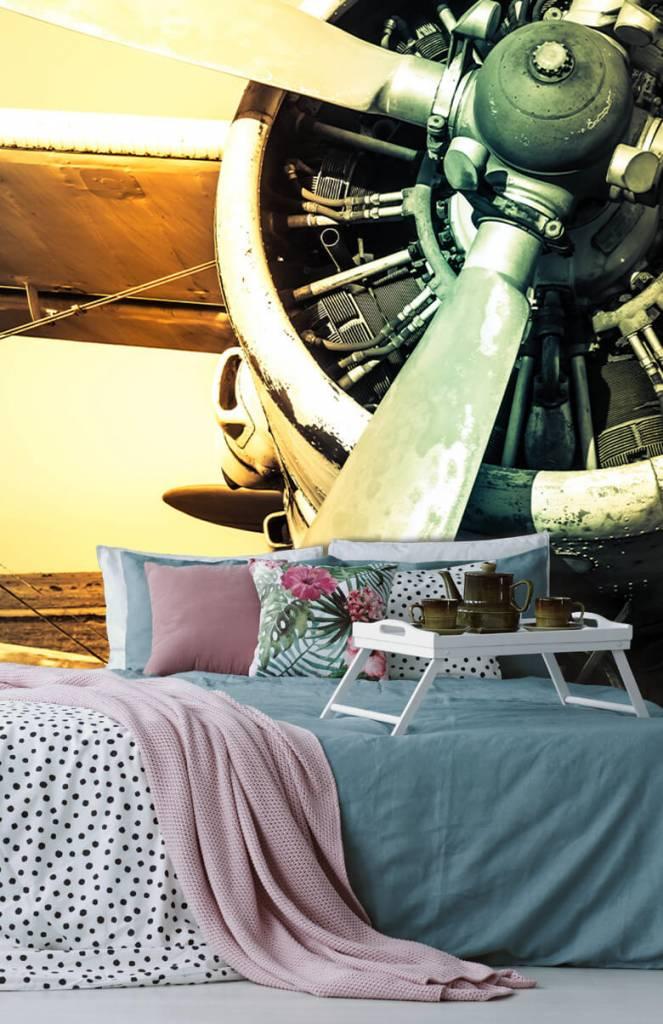 Retro behang - Oude vliegtuig - Slaapkamer 5