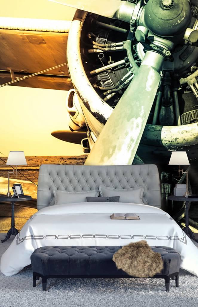 Retro behang - Oude vliegtuig - Slaapkamer 6