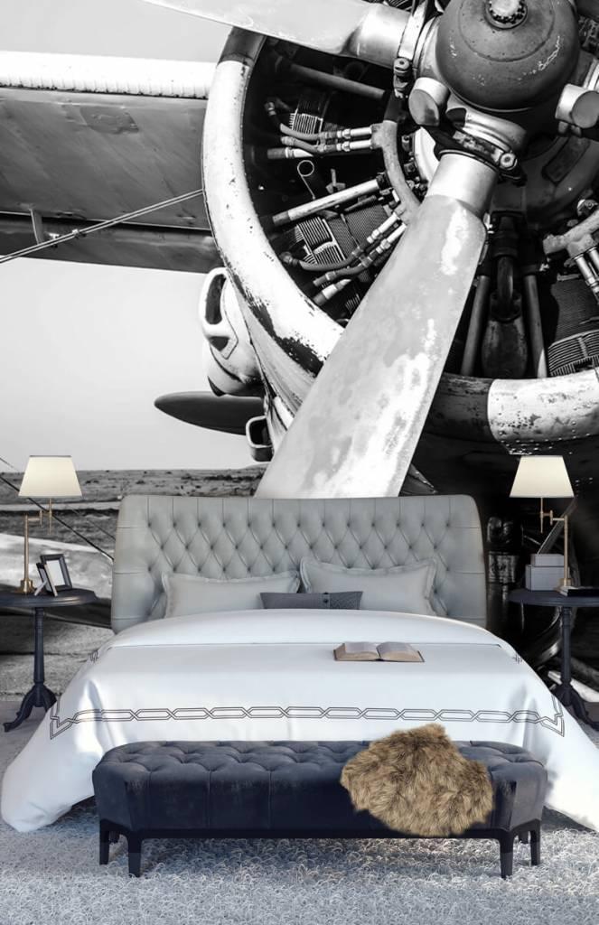 Retro behang - Oude vliegtuig - Slaapkamer 7