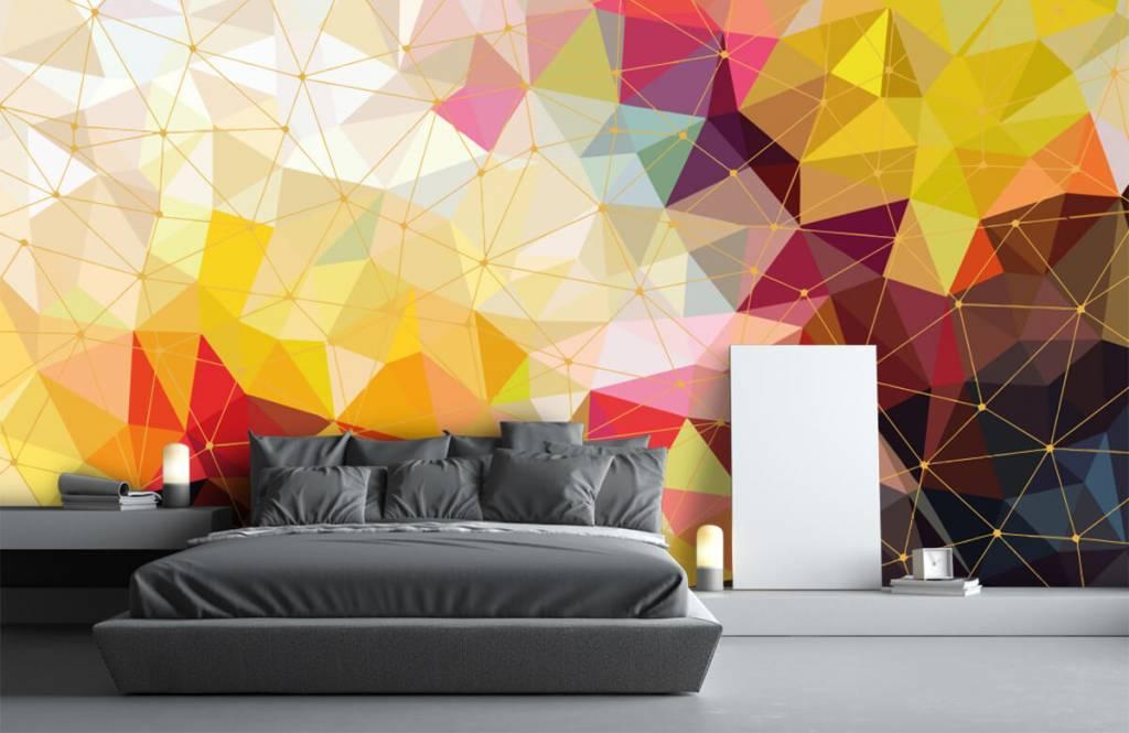 Overige - Print van kleurrijke driehoeken - Slaapkamer 5