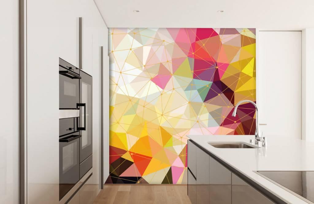 Overige - Print van kleurrijke driehoeken - Slaapkamer 6
