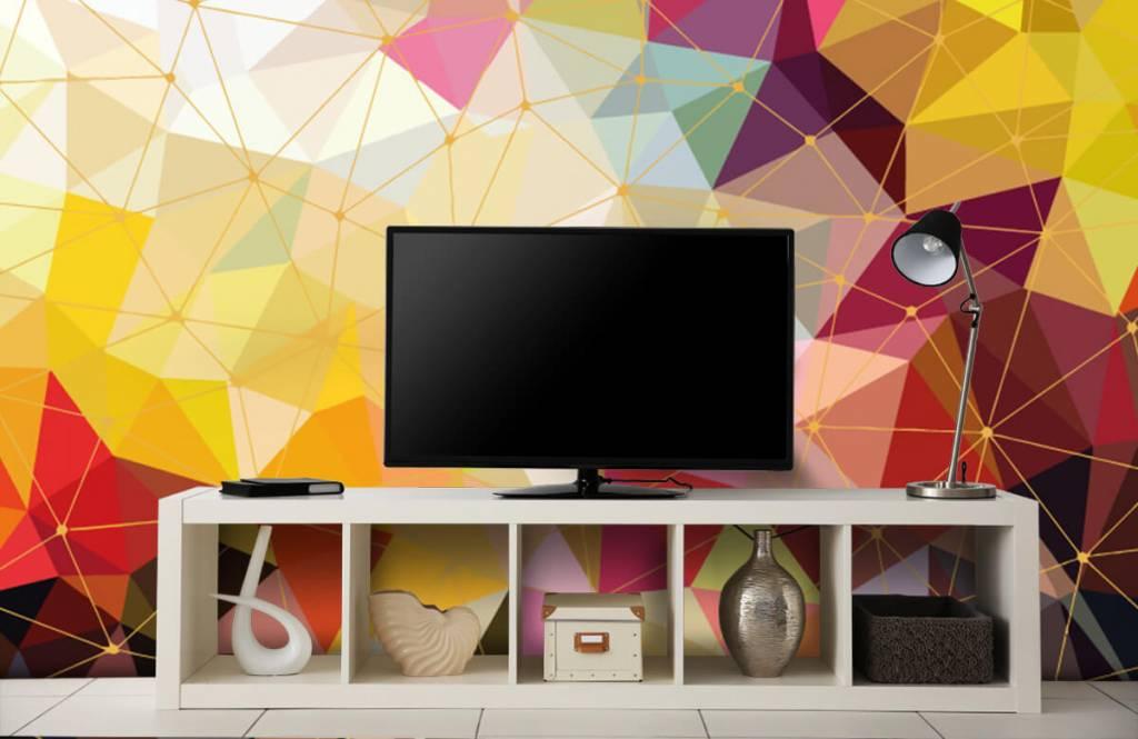 Overige - Print van kleurrijke driehoeken - Slaapkamer 7