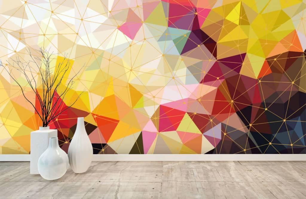 Overige - Print van kleurrijke driehoeken - Slaapkamer 8