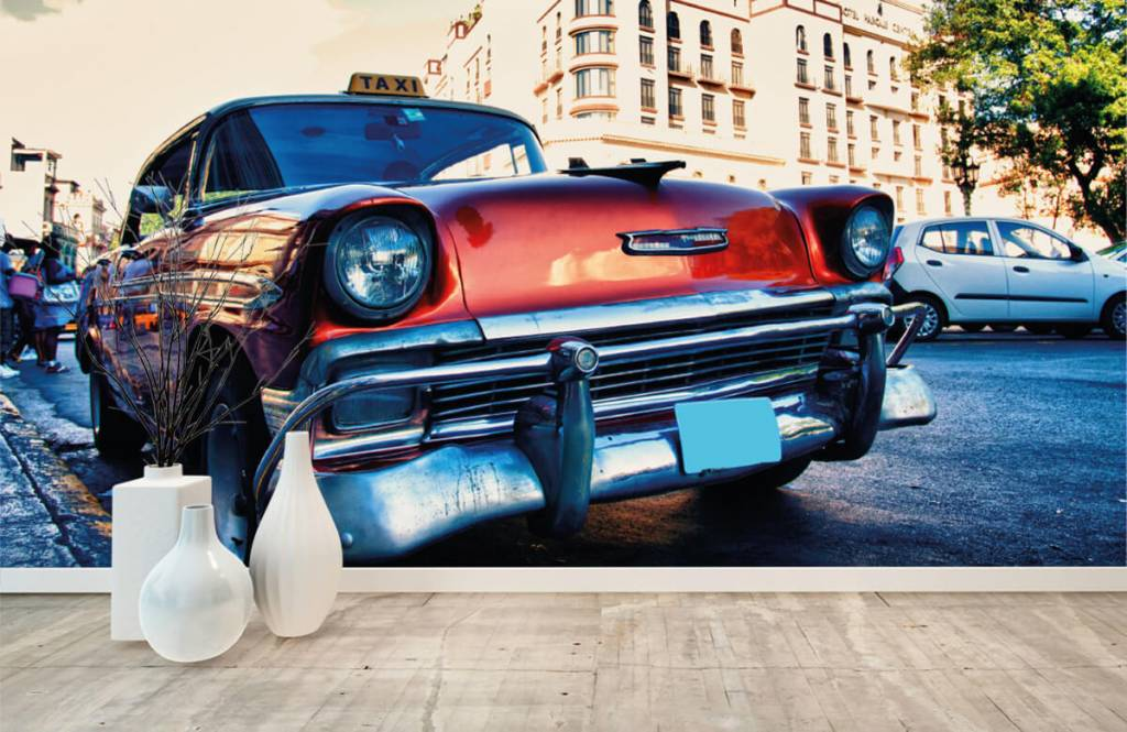 Transport - Rode klassieke auto - Slaapkamer 1