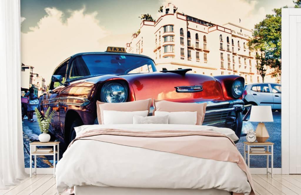 Transport - Rode klassieke auto - Slaapkamer 2