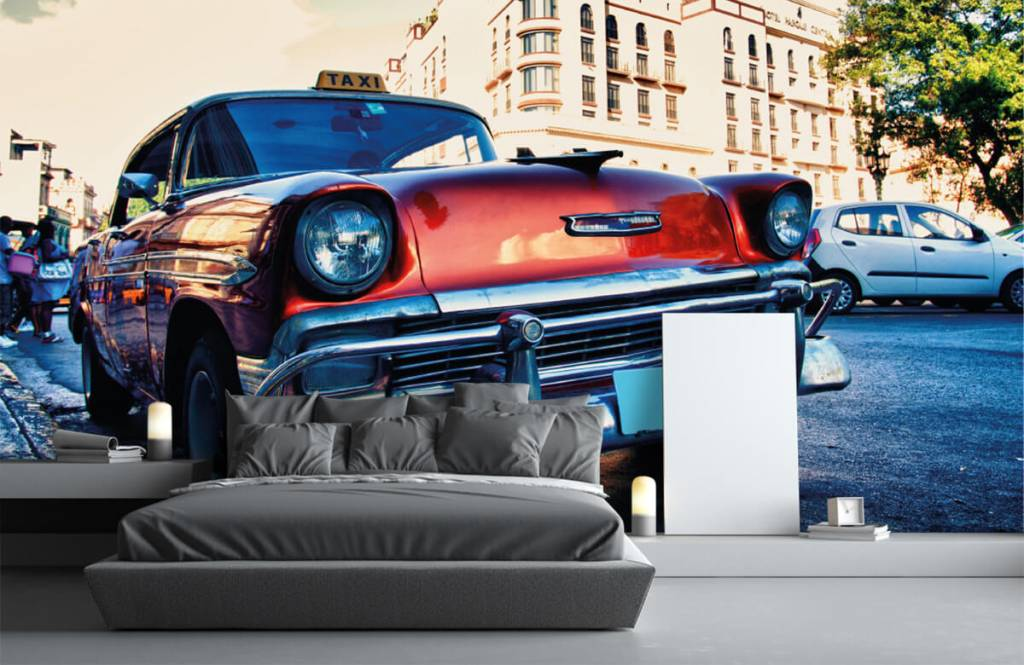 Transport - Rode klassieke auto - Slaapkamer 3
