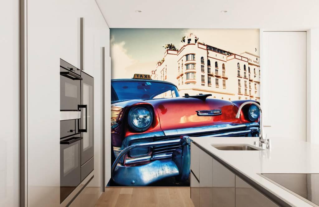 Transport - Rode klassieke auto - Slaapkamer 4