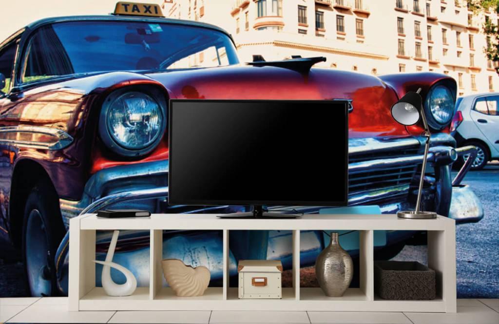 Transport - Rode klassieke auto - Slaapkamer 5
