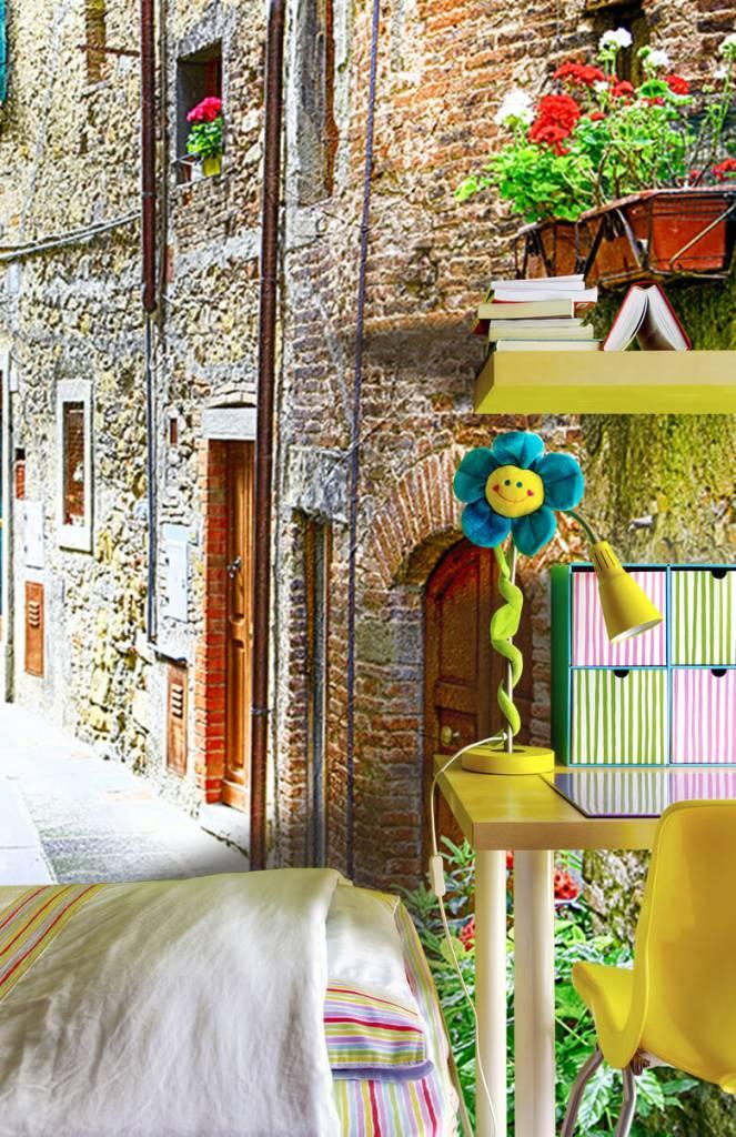 Steden behang - Smal Italiaans straatje - Woonkamer 3