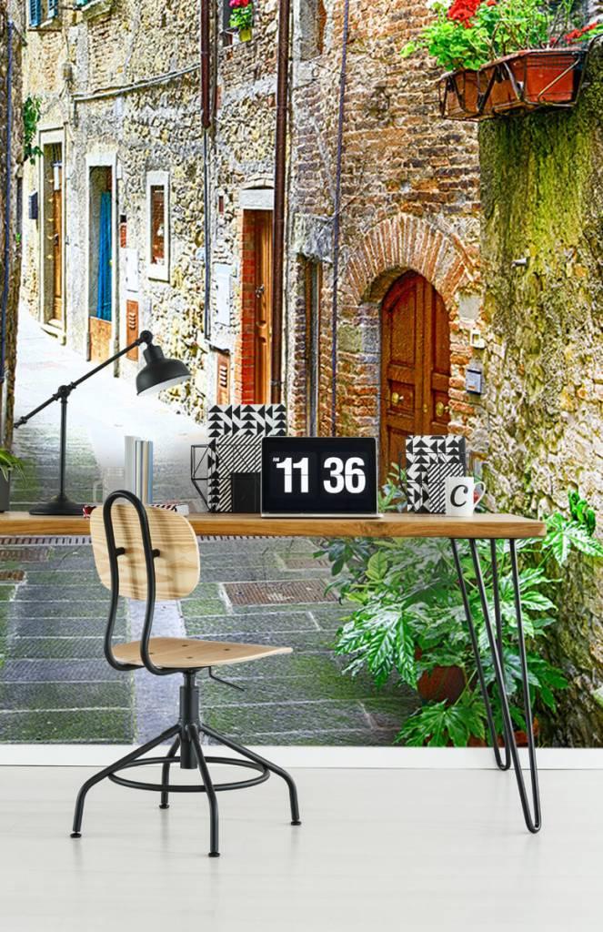 Steden behang - Smal Italiaans straatje - Woonkamer 5