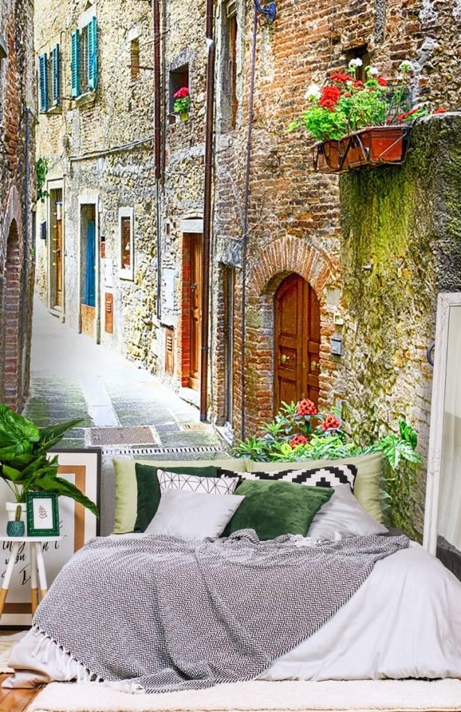 Steden behang - Smal Italiaans straatje - Woonkamer 8