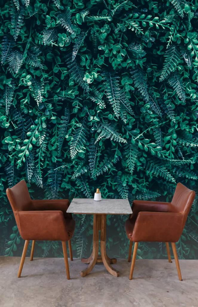 Bladeren - Tropische wand - Woonkamer 3