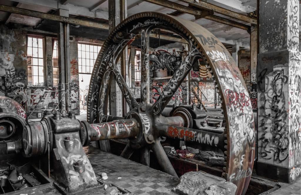 Architectuur - Verlaten fabriek - Tienerkamer 9