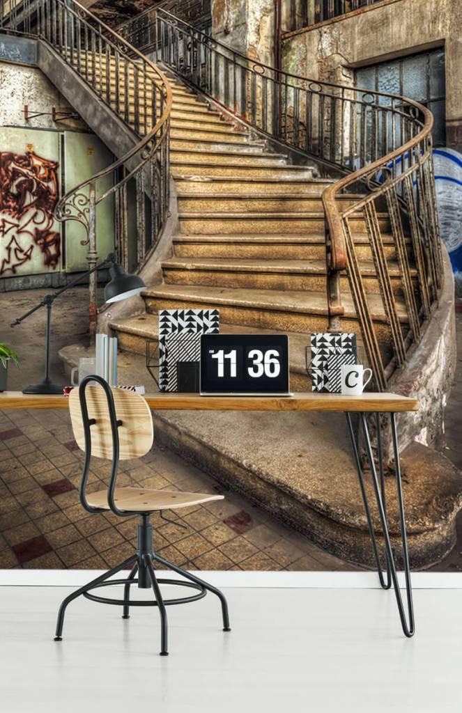 Gebouwen - Vervallen trap - Woonkamer 3