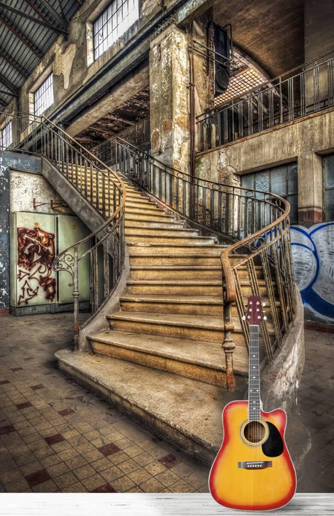 Gebouwen - Vervallen trap - Woonkamer 5