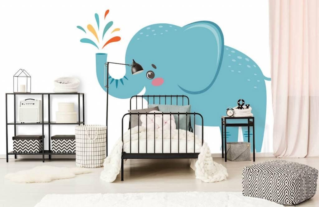 Olifanten - Vrolijke olifant - Babykamer 1