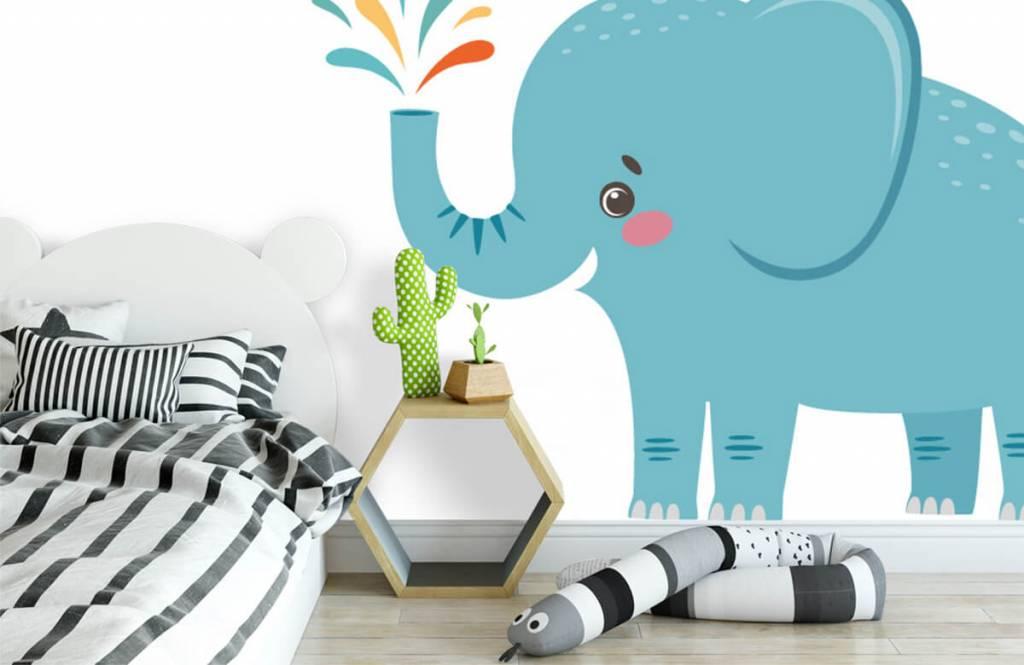 Olifanten - Vrolijke olifant - Babykamer 2