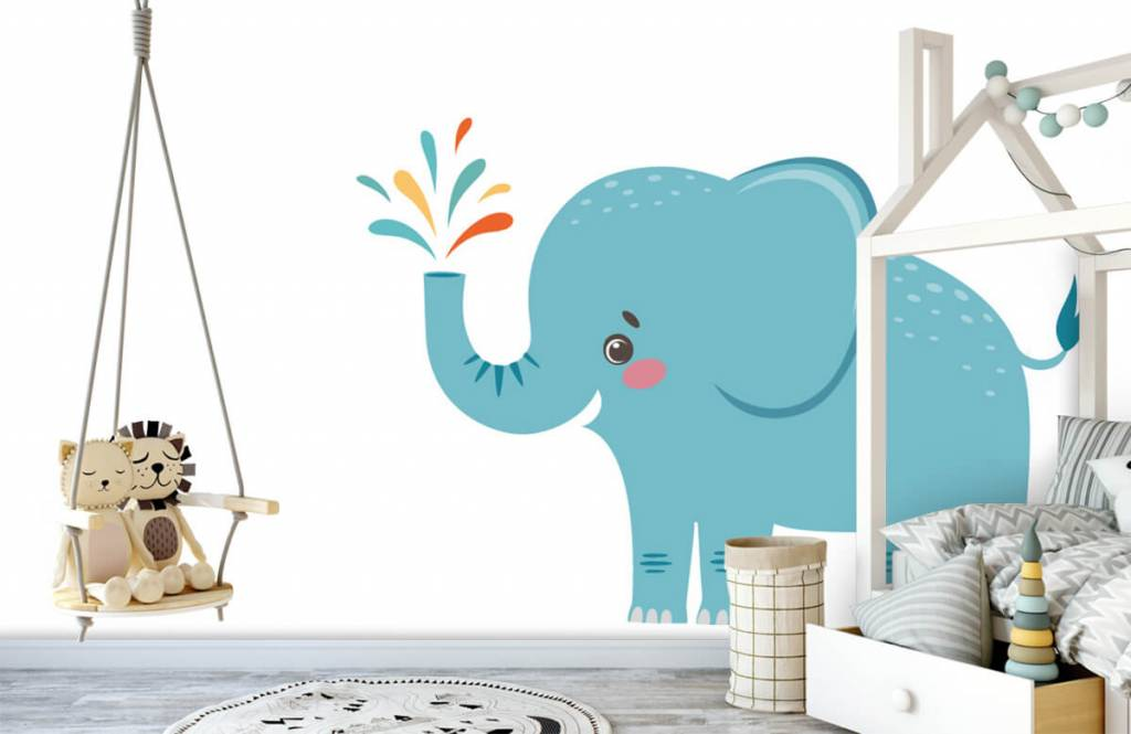 Olifanten - Vrolijke olifant - Babykamer 3