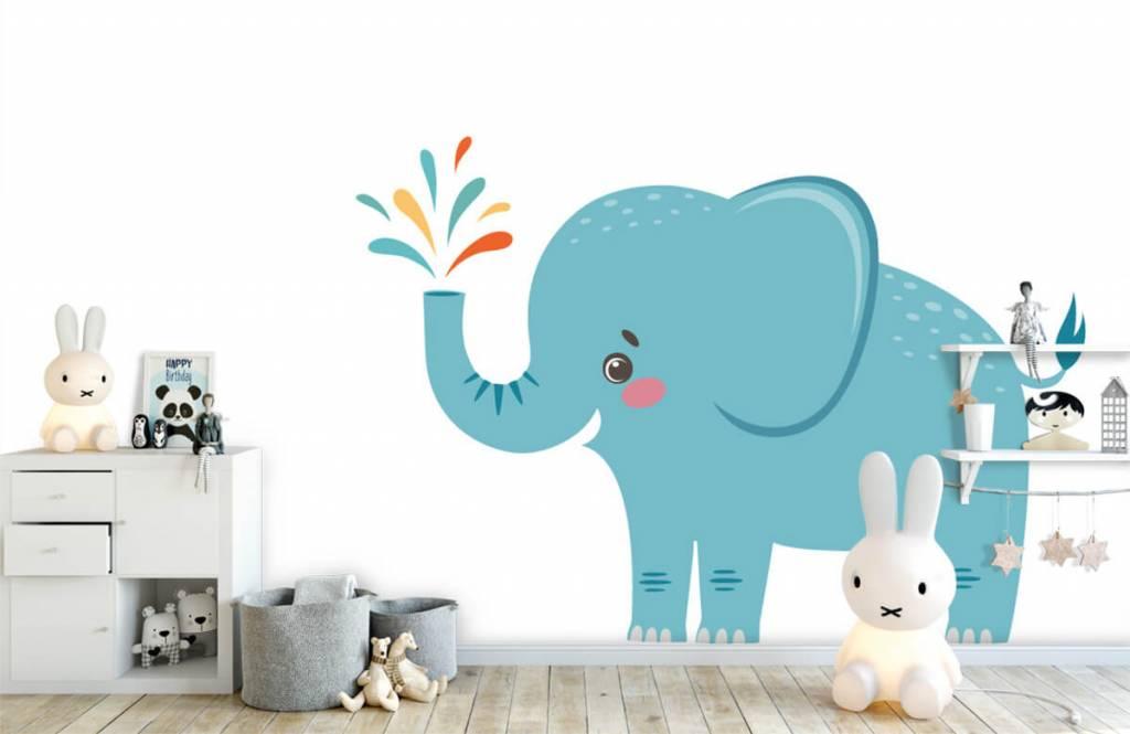 Olifanten - Vrolijke olifant - Babykamer 4