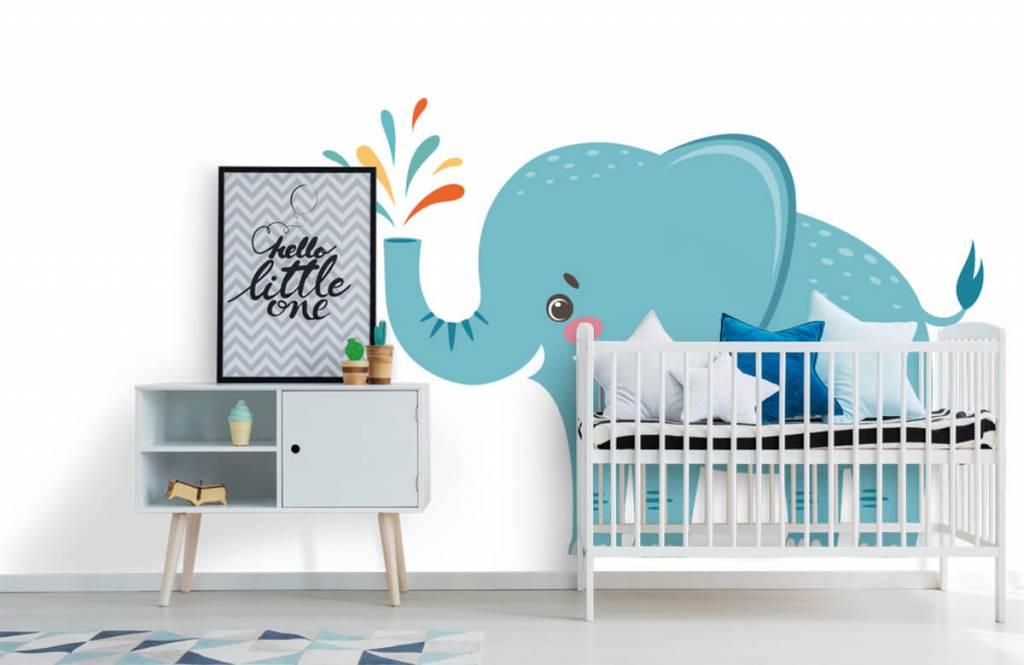 Olifanten - Vrolijke olifant - Babykamer 6