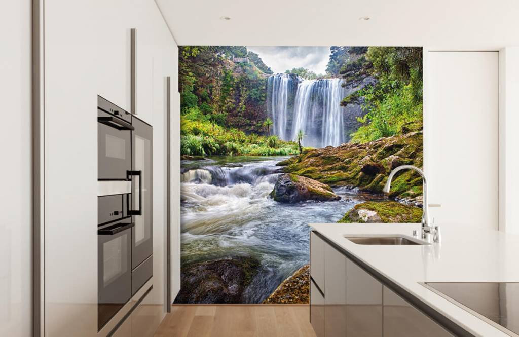 Watervallen - Waterval met stenen - Directie 3