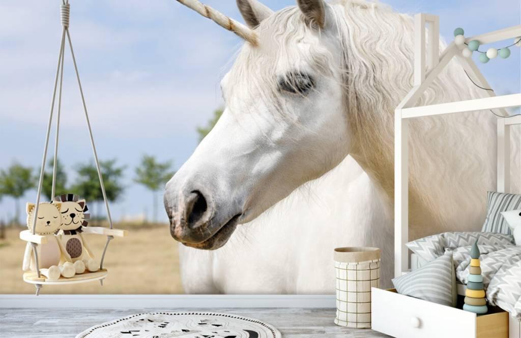 Paarden - Witte eenhoorn - Kinderkamer 4