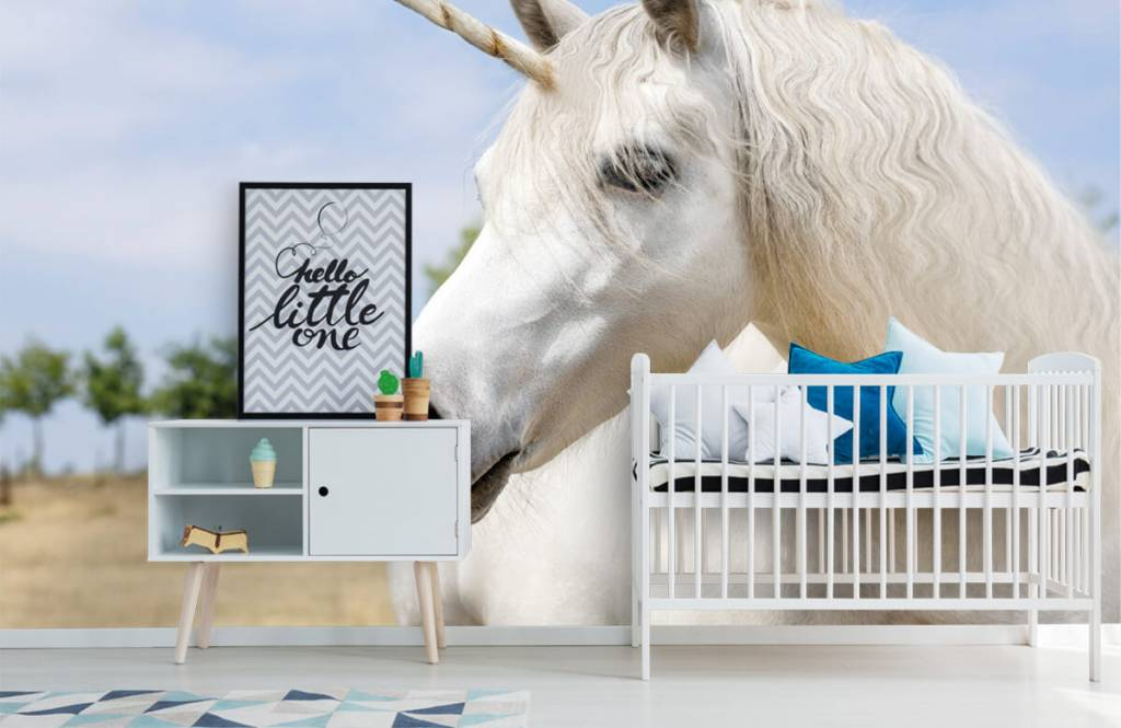 Paarden - Witte eenhoorn - Kinderkamer 6