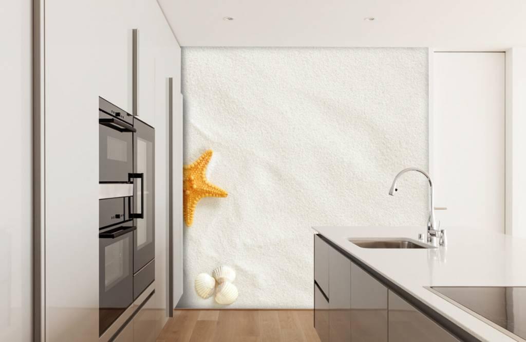 Stranden - Zeester op wit zand - Slaapkamer 1