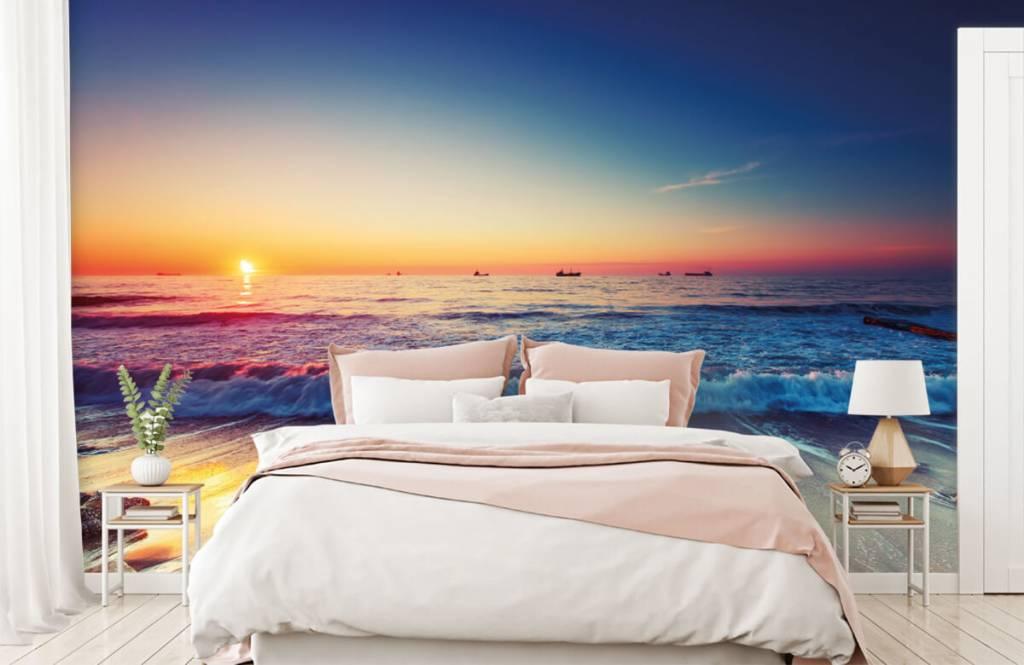 Stranden - Zonsondergang boven zee - Slaapkamer 2
