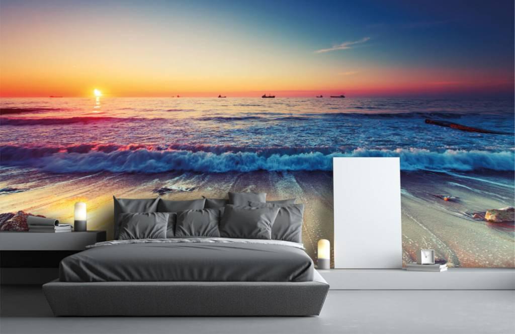 Stranden - Zonsondergang boven zee - Slaapkamer 3