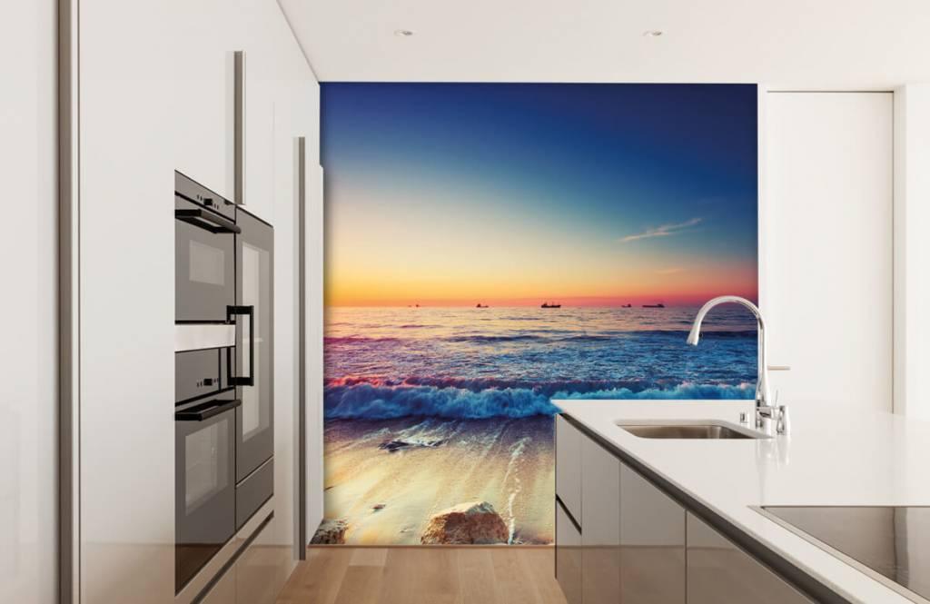 Stranden - Zonsondergang boven zee - Slaapkamer 4